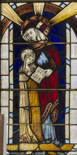 Stained glass window panel, St Nicholas' Chapel, King's Lynn