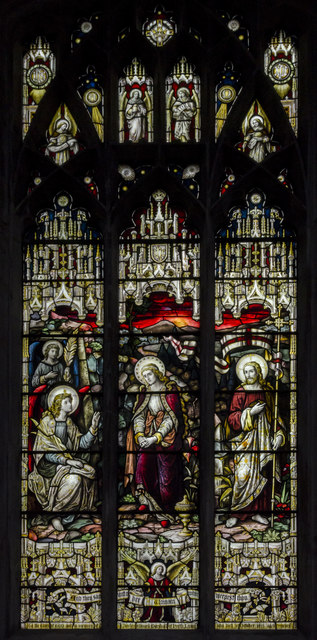 Stained glass window, St Nicholas' Chapel, King's Lynn