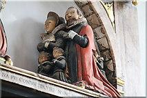TF6120 : Detail of Clarck memorial, St Nicholas' Chapel, King's Lynn by J.Hannan-Briggs