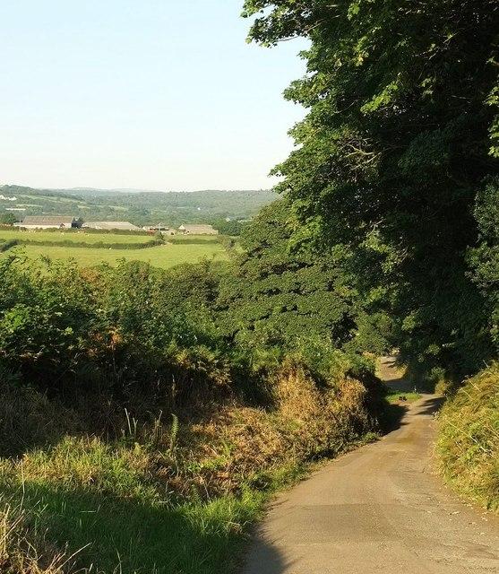 Lane near Treliggon