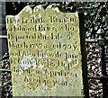 J3282 : Edward Brice headstone, Carnmoney CoI graveyard, Newtownabbey (February 2017) by Albert Bridge