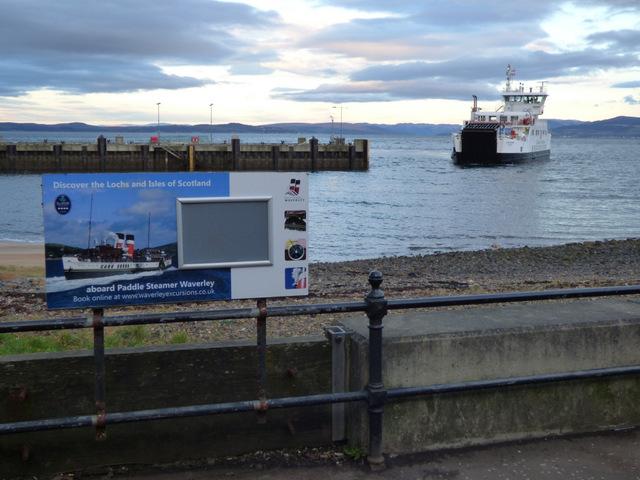 Ferry approaching Largs Pier