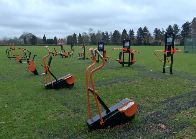 Outdoor gym at Rushey Fields Recreation Ground