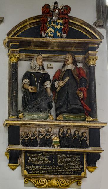 Monument to Thomas Greene, St Nicholas' Chapel, King's Lynn