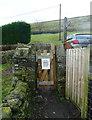 SE0327 : Sowerby Bridge FP2, Midgley (6) - narrow footpath gate by Humphrey Bolton