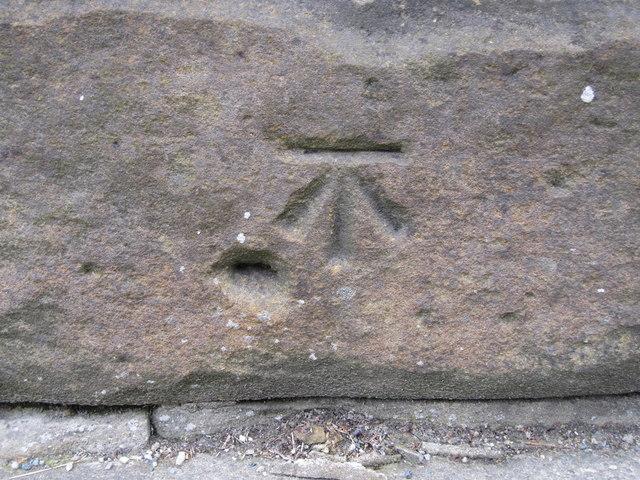Bench mark on High Bentham railway bridge