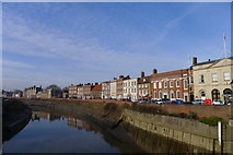 TF4509 : The River Nene, and North Brink, Wisbech by Tim Heaton