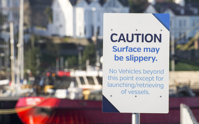 Warning sign, Bangor Harbour