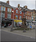 SS8591 : William Hopkin Thomas Memorial Fountain and Lamps in the centre of Maesteg  by Jaggery