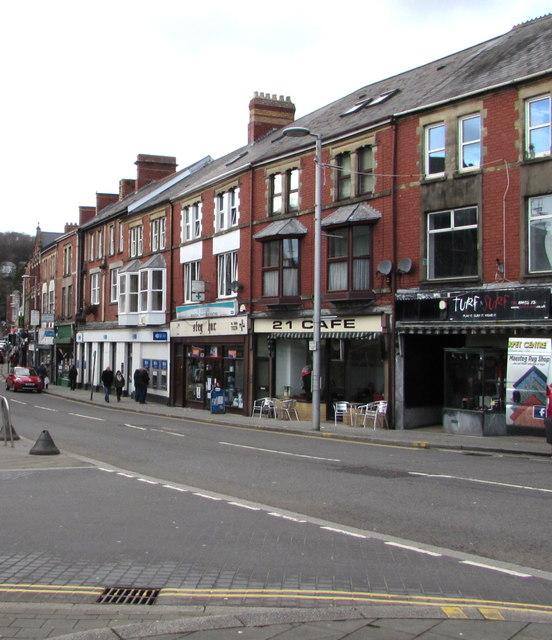 Talbot Street in Maesteg town centre