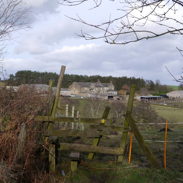 Stile on the footpath to Woodlands Farm