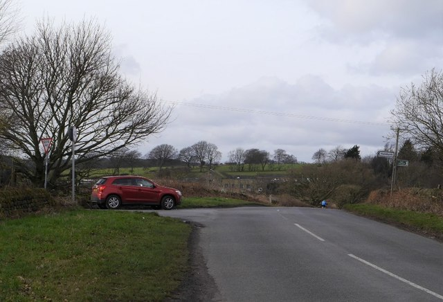 Otley Old Road and the junction with Dean Lane