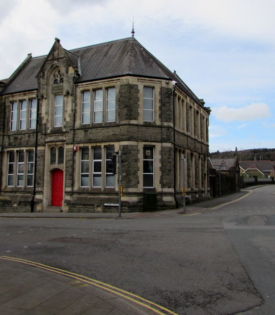 Grade II listed Edwardian building on a town centre corner, Maesteg