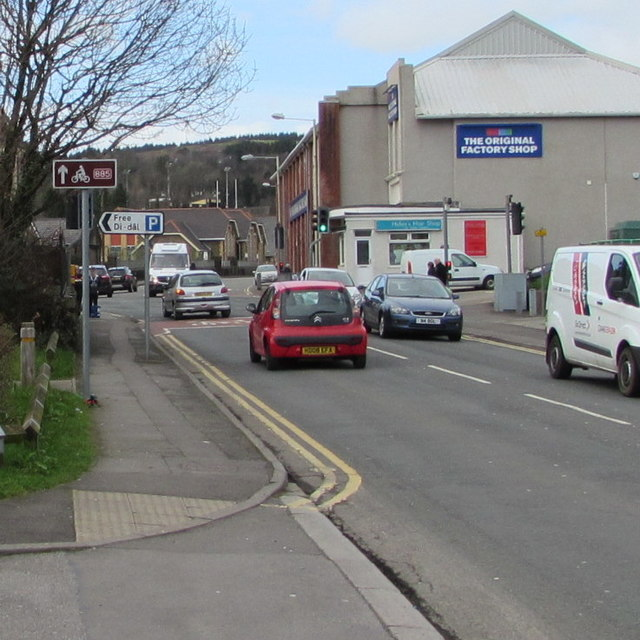 National Cycle Network Route 885 in the centre of Maesteg