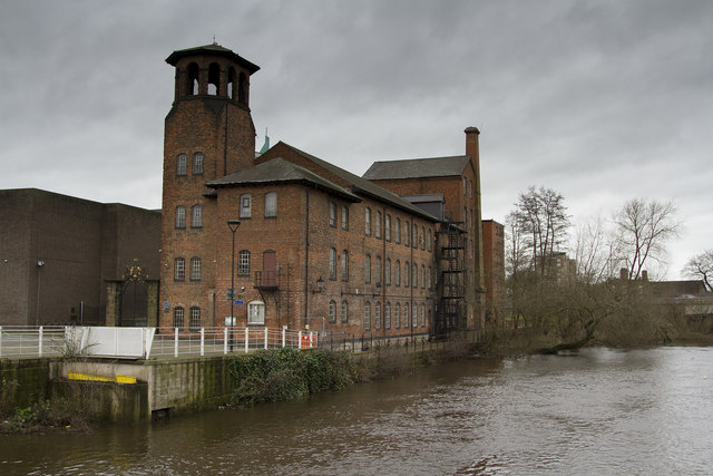 The Silk Mill Museum from the River Derwent