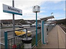 SS8591 : Maesteg railway station ticket machine by Jaggery