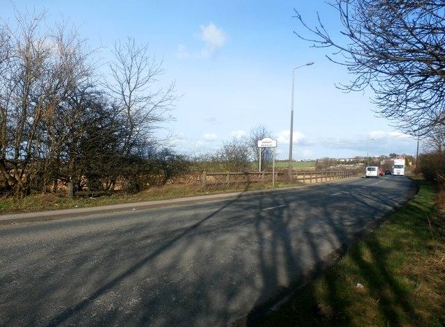 A628 Road Entering Brierley