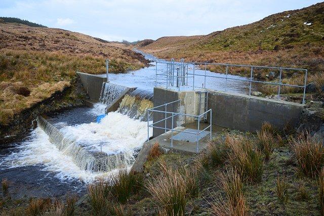 Finchairn River intake for the Ederline Hydro Scheme