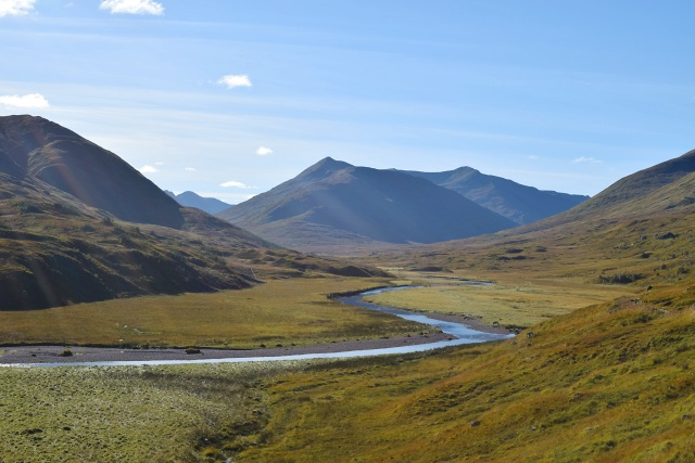 The meandering River Affric