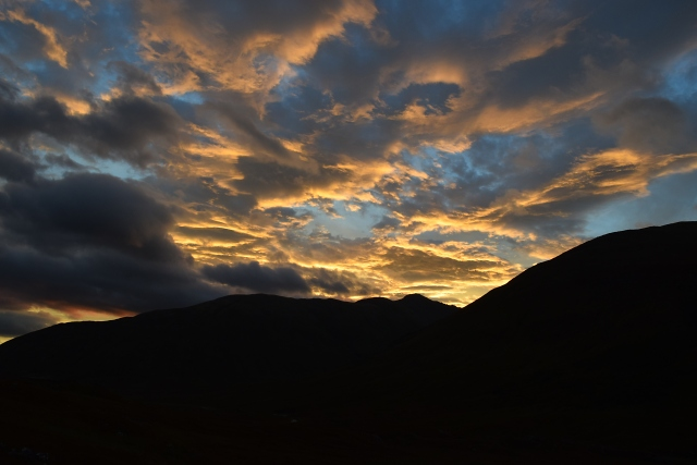 Sunset from Camban bothy