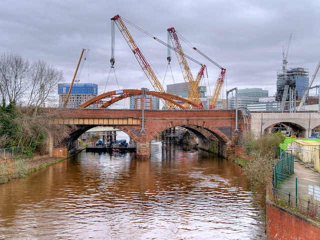 Old and New Bridges over the Irwell