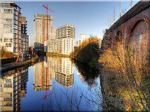 SJ8297 : River Irwell at St George's by David Dixon
