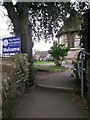 SZ1292 : Pokesdown: a church welcome on footpath J09 by Chris Downer