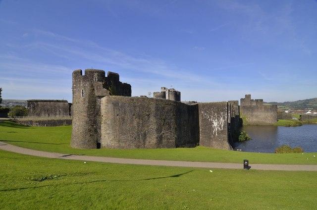 Caerphilly Castle.