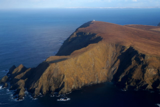 Siggar Ness and Fitful Head from the air