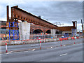 SJ8298 : Ordsall Chord, Construction of New Bridge over Trinity Way (Feb 2017) by David Dixon