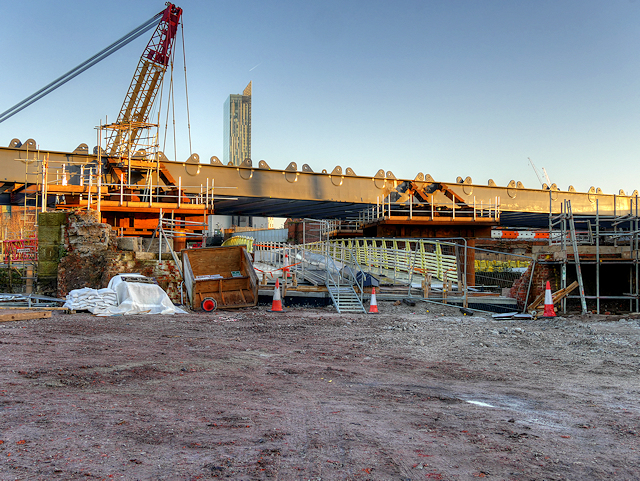 Ordsall Chord Construction Site (Dec 2016)