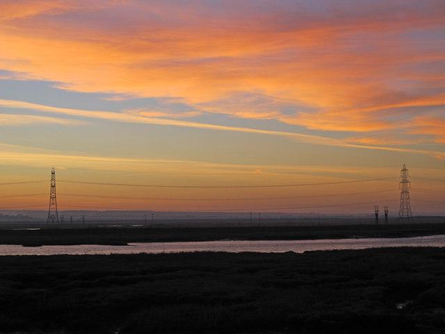 Sunset over Chetney Marshes