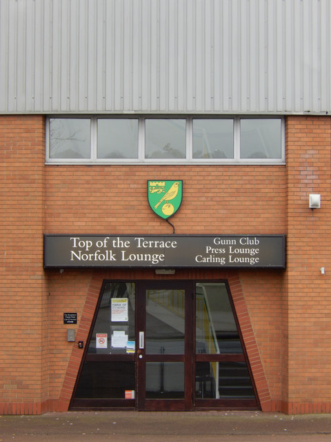 Carrow Road: entrance to the Norfolk Lounge