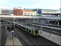 SP0786 : Train entering New Street Station, Birmingham by Richard Humphrey