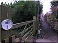 SZ0994 : Moordown: footpath M11 from the dead end of McWilliam Road by Chris Downer