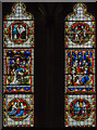 SO9445 : West window, Pershore Abbey by Julian P Guffogg