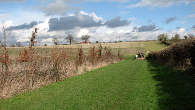 Walkers on the Boudicca Way