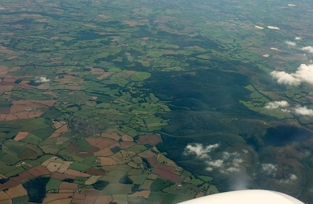 Quantocks from the air