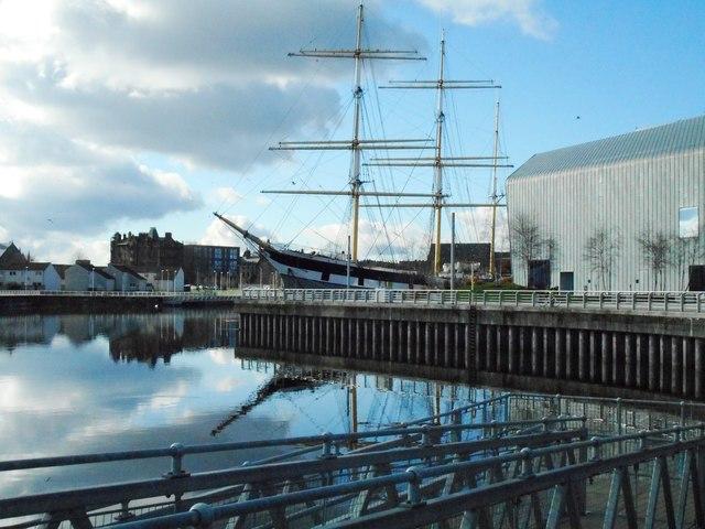 The Tall Ship beside Riverside Museum