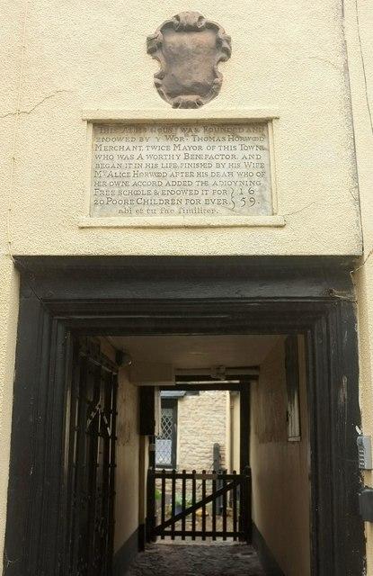 Entrance to Horwood's Almshouses, Barnstaple