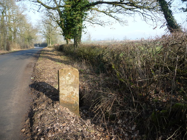 The King's Meaburn / Bolton boundary stone, from the south