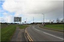 NS3428 : Station Road approaching the A79 by Billy McCrorie
