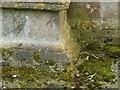 SK6813 : Bench mark, St Luke's Church, Gaddesby by Alan Murray-Rust