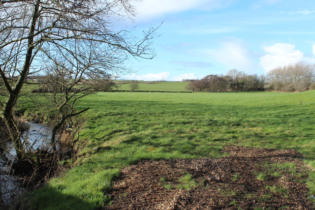 Farmland beside the Pow Burn