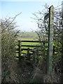 NY6221 : Public footpath heading north-east off Hoggs Lane by Christine Johnstone