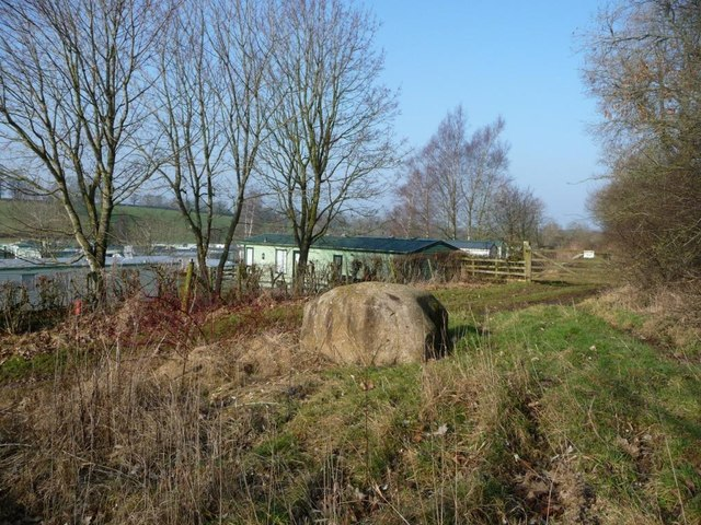 Erratic boulder, outside Sockenber Park