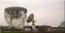 SJ7971 : The Lovell and the crab telescopes at Jodrell Bank Observatory by Benjamin Shaw