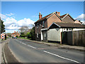 TG1901 : View along Norwich Road, Mulbarton by Evelyn Simak