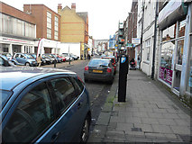 TQ7567 : Looking east along the High Street, Chatham by John Baker