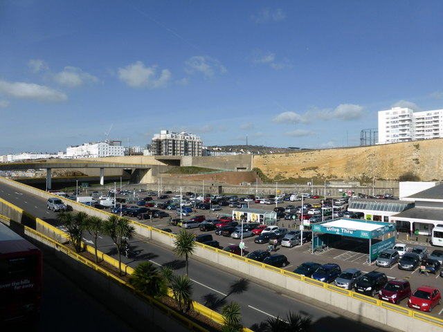 Asda Car Park at Brighton Marina